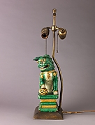 Figure of lion mounted as lamp (see also 1975.1.1728)